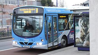 Arriva Southern Counties - Fastrack liveried Wright Eclipse bodied Volvo B7RLE at Dartford in March 2008