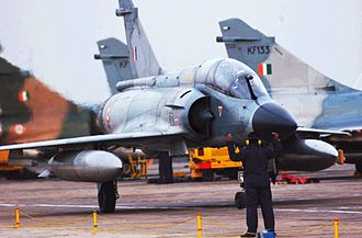 Foreign relations of France - The Indian Air Force has the second largest fleet of France's Mirage 2000H after Armée de l'Air.