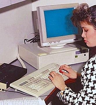 Data entry clerk - A data entry clerk