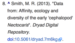 Data Dryad citation on Wikipedia.png
