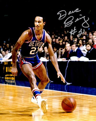 Dave Bing - Bing playing for the Detroit Pistons, c. 1975
