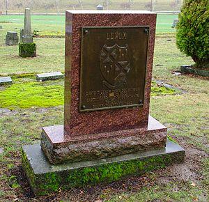 David Thomas Lenox - Plaque dedicated to Lenox at his gravesite
