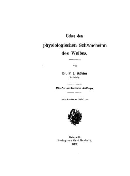 File:De Über den physiologischen Schwachsinn des Weibes (Möbius).djvu