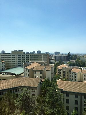 UCLA student housing - De Neve Plaza and Dykstra Hall