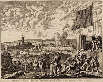 Battle of Noordhorn - Siege of Steenwijk in 1580–81 by Count Rennenberg. Jan Luyken, 1679.