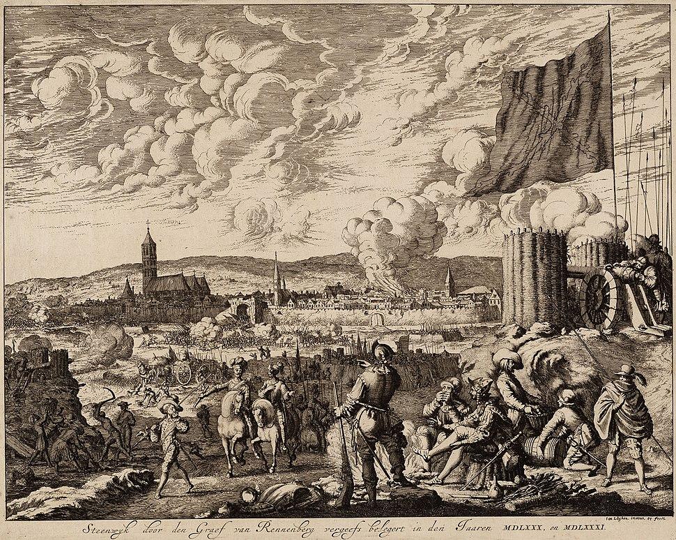 De vergeefse belegering van Steenwijk door Graaf van Rennenberg (Lalaing) in 1580-81 (Jan Luyken)