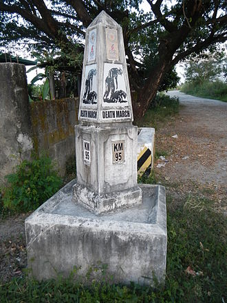 Bataan Death March - Death March (95th km) marker, Bacolor, Pampanga (where the Filipinos passed)
