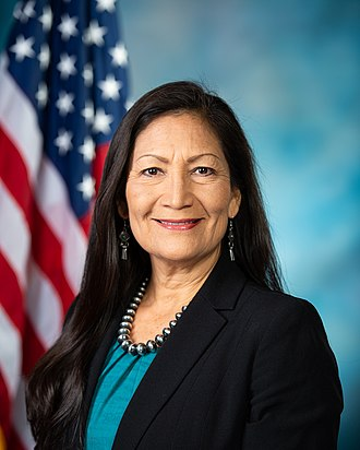 United States congressional delegations from New Mexico - Image: Deb Haaland, official portrait, 116th Congress