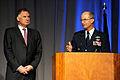 Defense.gov News Photo 101103-D-7203C-006 - Commander of U.S. Strategic Command Gen. Kevin Chiton thanks Deputy Secretary of Defense William J. Lynn III for attending the U.S. Strategic.jpg