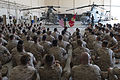 Defense Secretary Chuck Hagel speaks to Marines stationed on Camp Pendleton, Calif ID16800.jpg