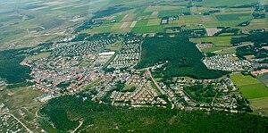 De Koog - Aerial of De Koog, in north-east direction