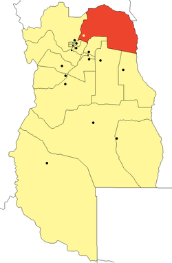 location of Departamento Lavalle in Mendoza Province