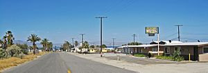 Desert Shores, California - View east through Desert Shores to the Salton Sea.