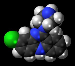Desmethylclozapine - Image: Desmethylclozapine 3D spacefill