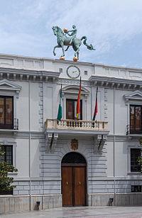 Detail facade ayuntamiento Granada Spain.jpg