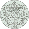 Detail from parterre design by Boyceau for the Luxembourg - monogram of Marie de Médicis - Met Museum of Art DP105009.png