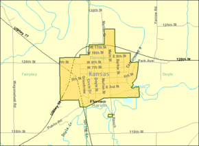 Detailed map of Florence, Kansas.png