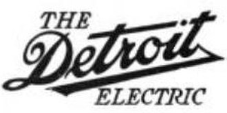 Detroit Electric - Image: Detroit electric 1912 logo