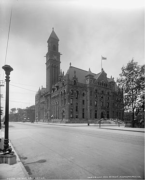 Theodore Levin United States Courthouse - The 1897 Post Office and Courthouse shortly after completion