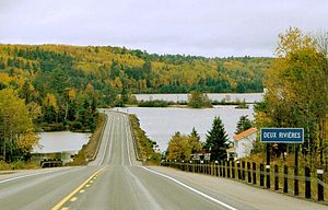 Head, Clara and Maria - Highway 17 and Ottawa River at Deux-Rivières