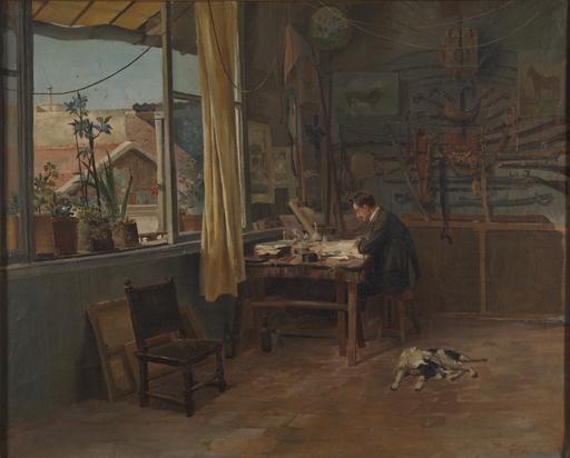 Diógenes Hequet - Taller de pintor