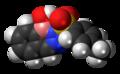 Diazaborine 3D spacefill.png