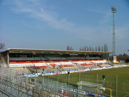 "home to the football club Kickers Offenbach stadium ""Bieberer Berg"""