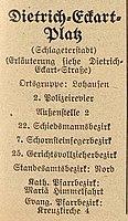 Dietrich-Eckart-Platz, Schlageterstadt, Adressbuch der Stadt Düsseldorf 1940 – nach 1945 Albrecht-von-Hagen-Platz.jpg