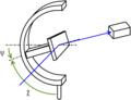 Diffractometre montage chi reflexion.png