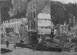 Dinant - Dinant's destruction in World War I