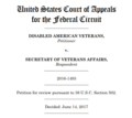 Disabled American Veterans v. Secretary of Veterans Affairs, 859 F. 3d 1072 (Fed. Cir. 2017).png