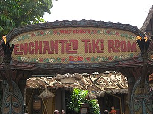 Walt Disney's Enchanted Tiki Room - Entrance sign at Disneyland