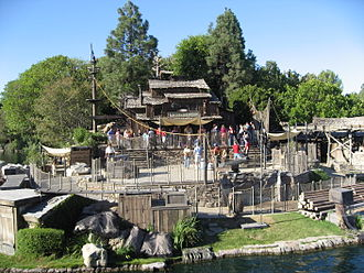 Pirate's Lair on Tom Sawyer Island - Lafitte's Tavern on Tom Sawyer Island at Disneyland in 2007