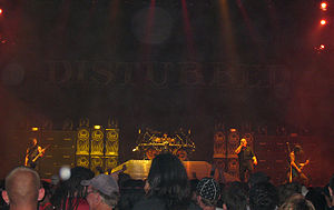 Disturbed (band) - Disturbed at 2008's Mayhem Festival in Dallas, Texas