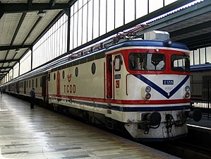 Eastern Express - An Istanbul-bound train at Ankara station in 2004.