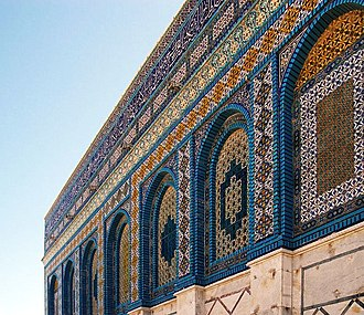 Levantine pottery - Tiles on the Dome of the Rock, in Jerusalem
