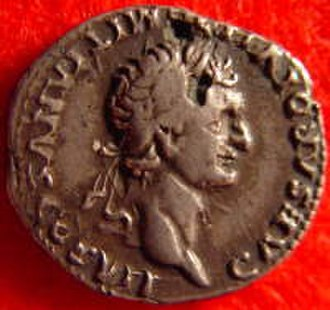 Fourrée - A fourrée denarius of Domitian showing 2 plating breaks.