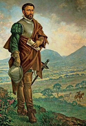 Spanish conquest of the Muisca - Gonzalo Jiménez de Quesada, the leader of the strenuous conquest expedition from Santa Marta to the Muisca territories