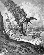 Tilting at windmills by Gustav Dore