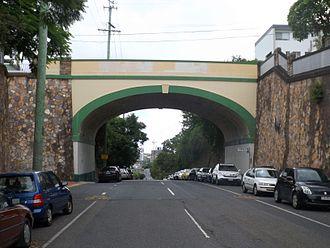 West End, Queensland - The Dornoch Terrace Bridge over Boundary Street, 2015