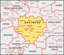 Dortmund Wikipedia - Germany map dortmund