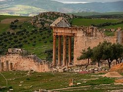 Dougga capitol from theatre.jpg