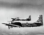 Douglas AD-6 Skyraiders of VT-30 in flight over Texas on 5 March 1962 (NNAM.1996.253.3058).jpg