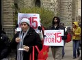 File:Downtown Chicago retail workers demand $15 per hour.webm