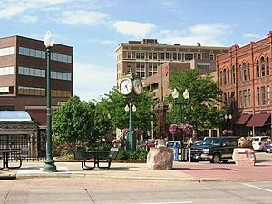Sioux Falls, South Dakota - Downtown Sioux Falls, near the intersection of 10th St. and Phillips Ave.