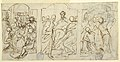 Drawing, Three Stages of the Passion- The Mockery, Christ before Pilate, Flagellation, ca. 1848 (CH 18119363).jpg