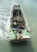 Dredge ship top view - 01