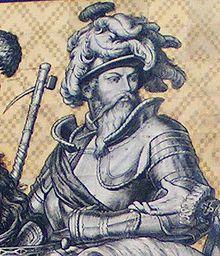 Moritz von Sachsen auf dem Fürstenzug in Dresden (Quelle: Wikimedia)