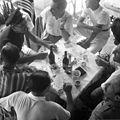 Drinking, beer bottle Fortepan 55891.jpg