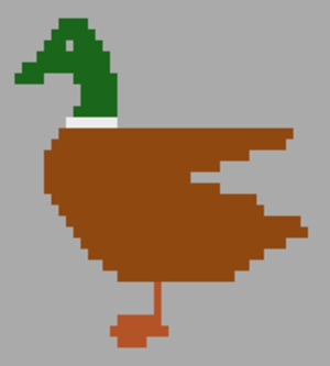 Television Interface Adaptor - On the Atari 2600, multicolor sprites – such as the duck in the 2010 homebrew game Duck Attack! – are possible, but only one color per horizontal scanline per sprite is typically available.